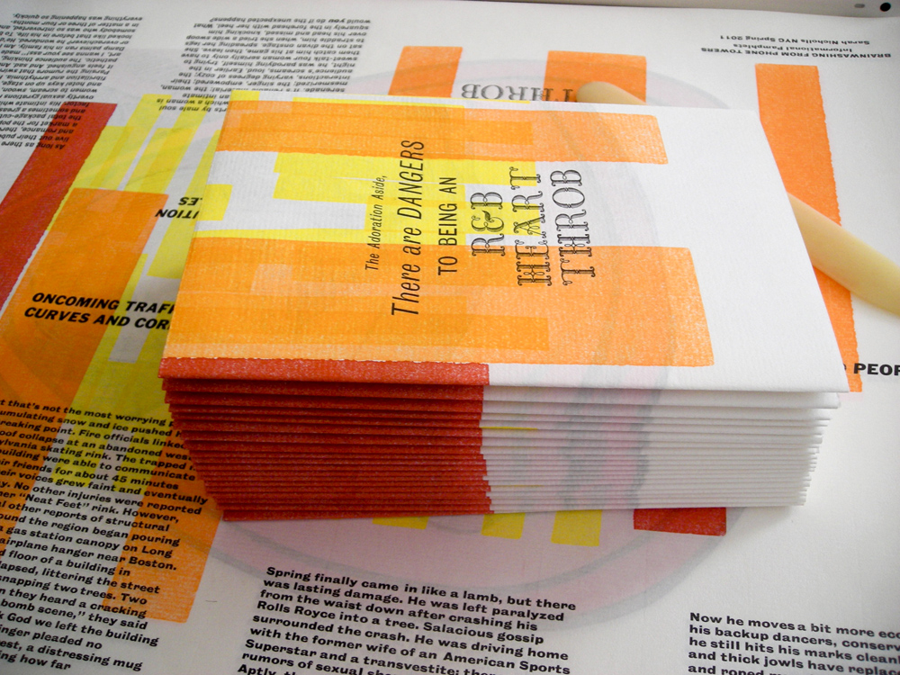 Letterpress Hertthrob Pamphlet