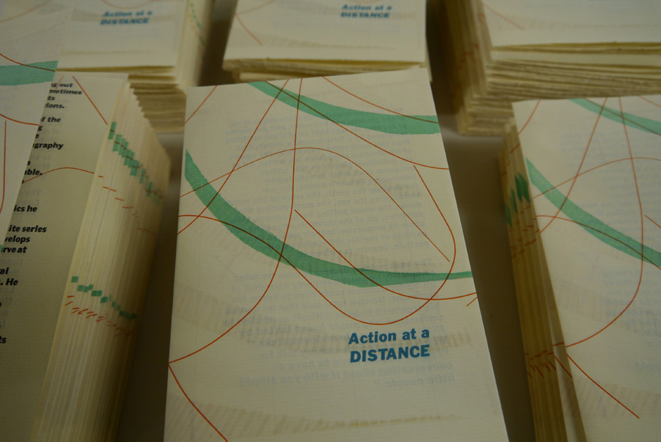 Action at a Distance letterpress pamphlets